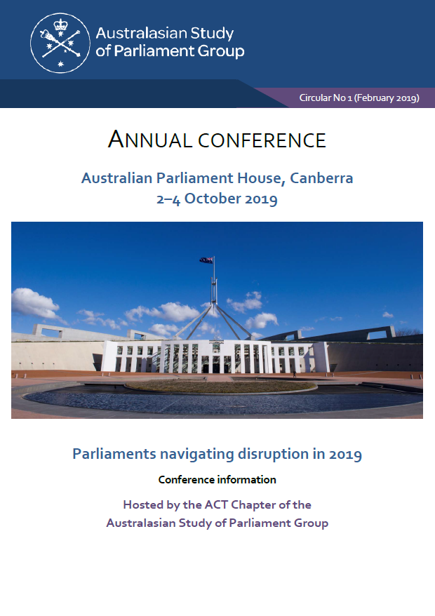 Cover page of circular no. 1